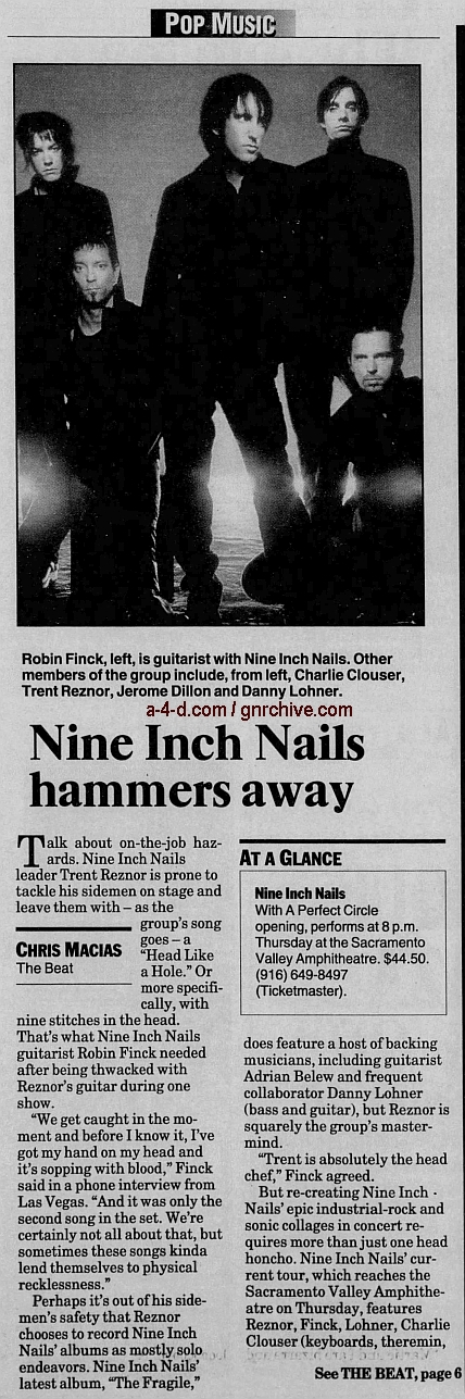 2000.06.11 - The Sacramento Bee - Nine Inch Nails Hammers Away (Robin) 2000_014