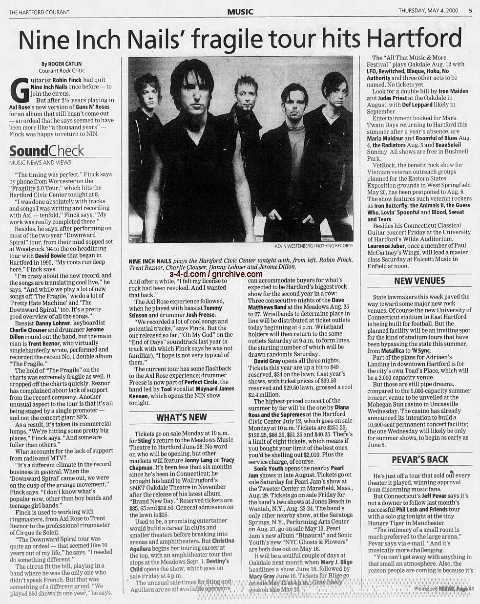 2000.05.04 - Hartford Courant - Nine Inch Nails' Fragile Tour Hits Hartford (Robin) 2000_016