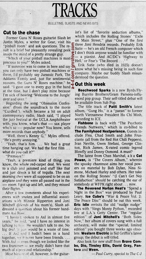 2000.03.18 - The Courier Journal - Cut To The Chase (Slash) 2000_026