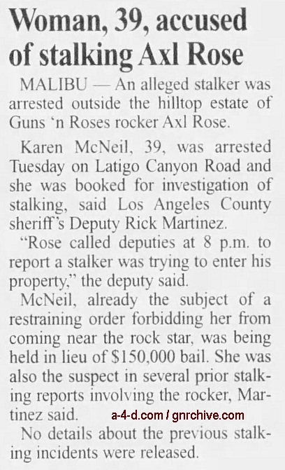 2000.05.18 - The Californian - Woman, 39, Accused Of Stalking Axl Rose 2000_035