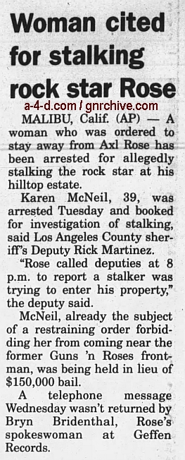 2000.05.18 - The Californian - Woman, 39, Accused Of Stalking Axl Rose 2000_036