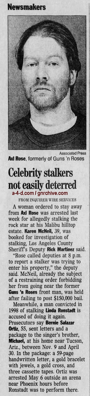 2000.05.18 - The Californian - Woman, 39, Accused Of Stalking Axl Rose 2000_037