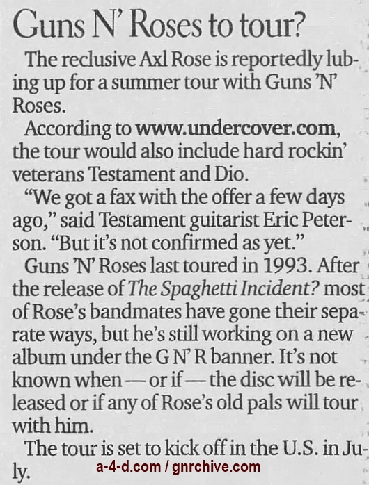 2000.06.11 - Edmonton Journal - Guns N' Roses To Tour? 2000_039
