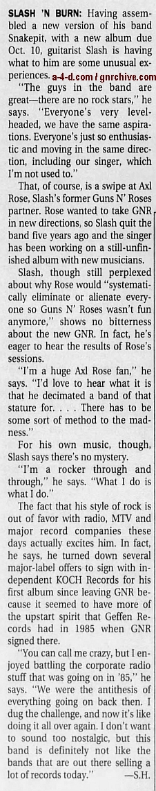 2000.07.16 - Los Angeles Times - Slash 'N Burn (Slash) 2000_049