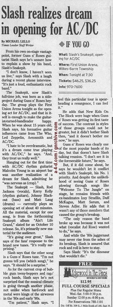 2000.08.22 - The Times Leader - Slash Realizes Dream In Opening For AC/DC 2000_053