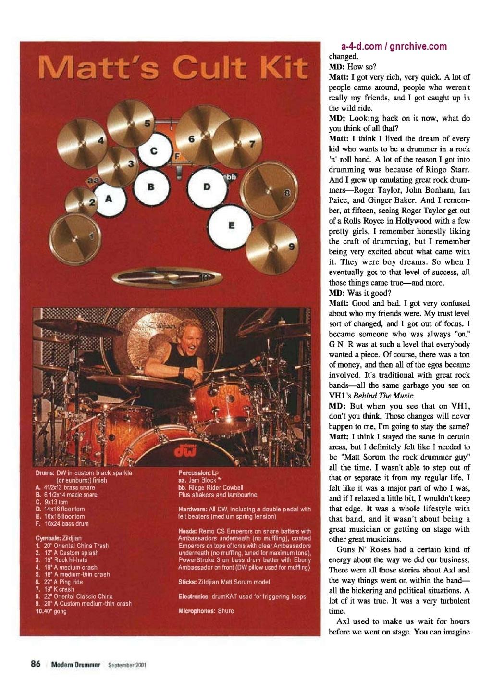 2001.09.DD - Modern Drummer - Matt Sorum: Surviving Super Stardom 2001_018