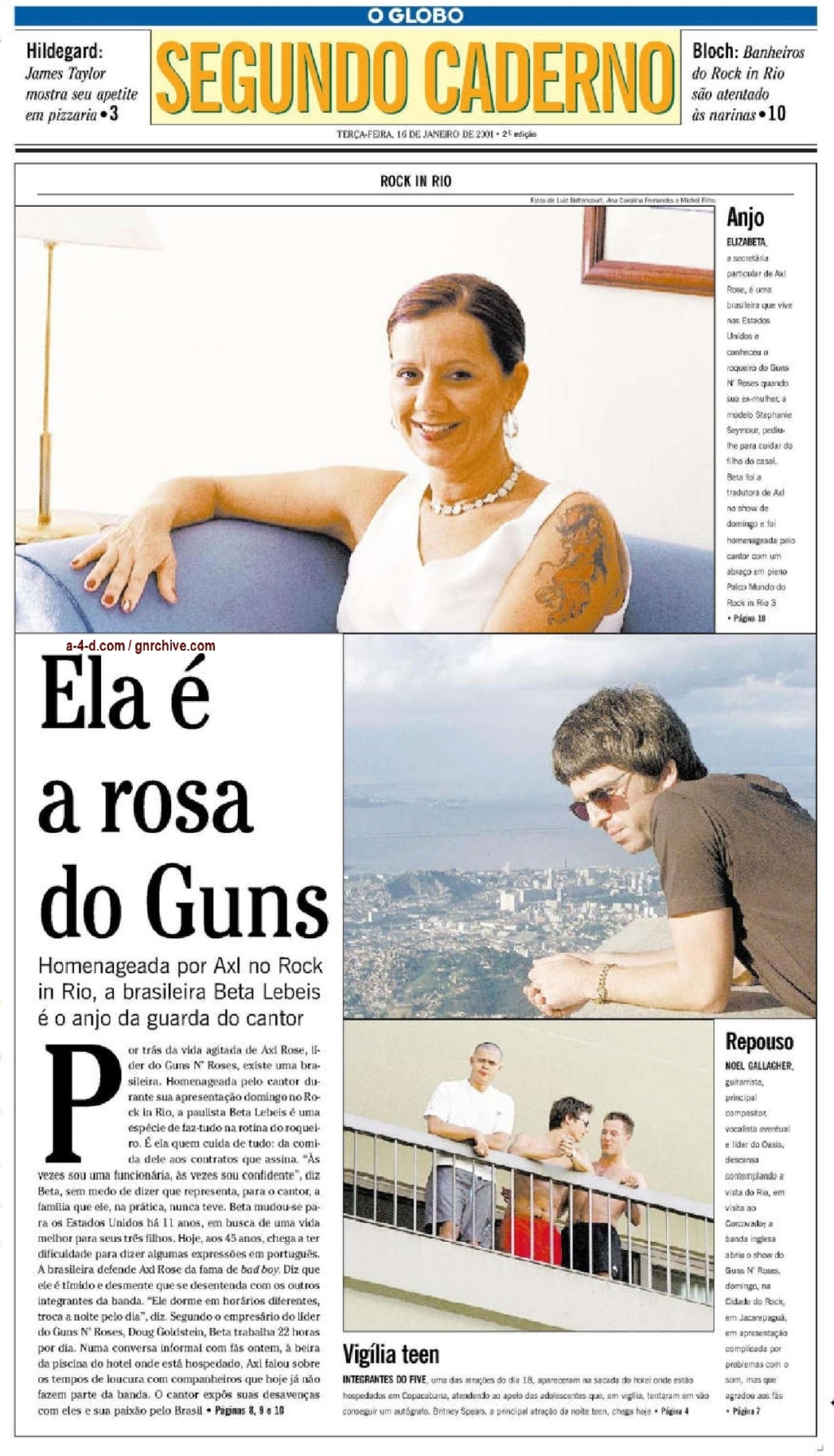 2001.01.16 - O Globo - Interview with Doug Goldstein and Beta Lebeis  2001_027