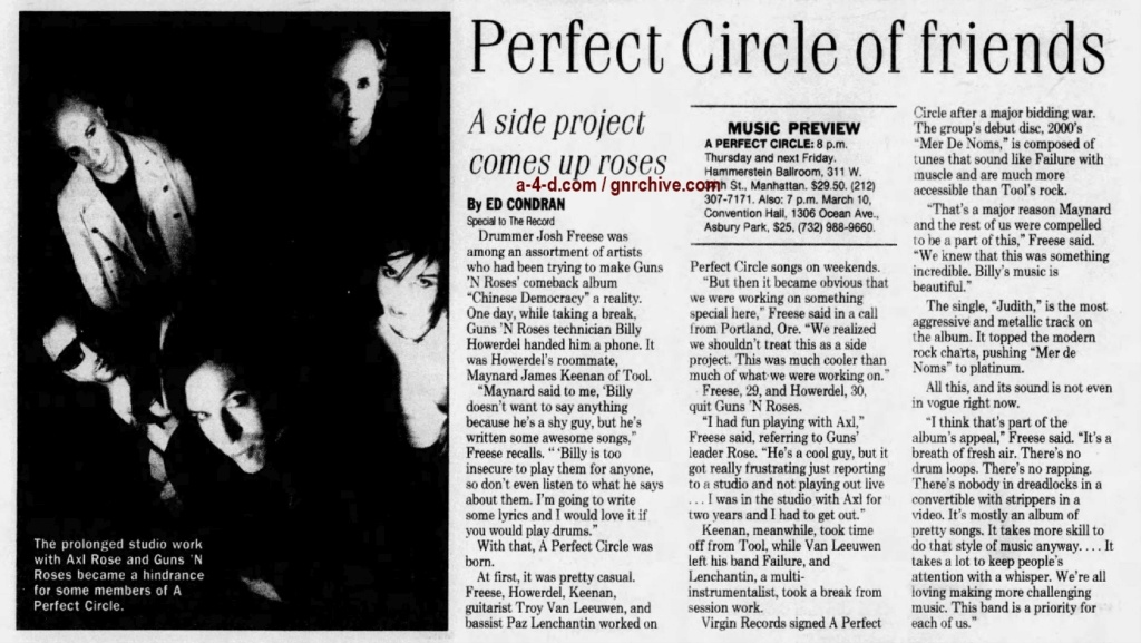 2001.02.23 - The Record - Perfect Circle of Friends (Josh) 2001_029