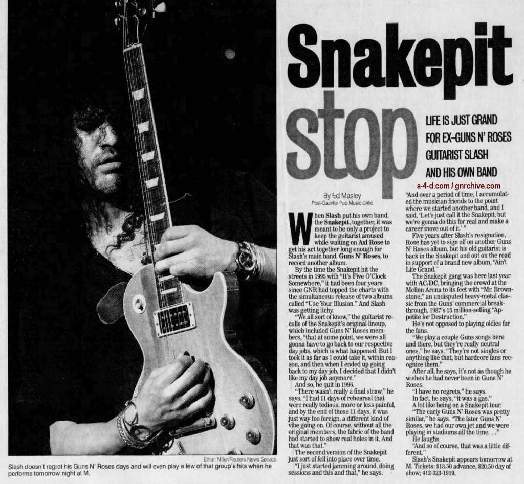 2001.03.10 - Pittsburgh Post-Gazette - Snakepit Stop (Slash) 2001_032