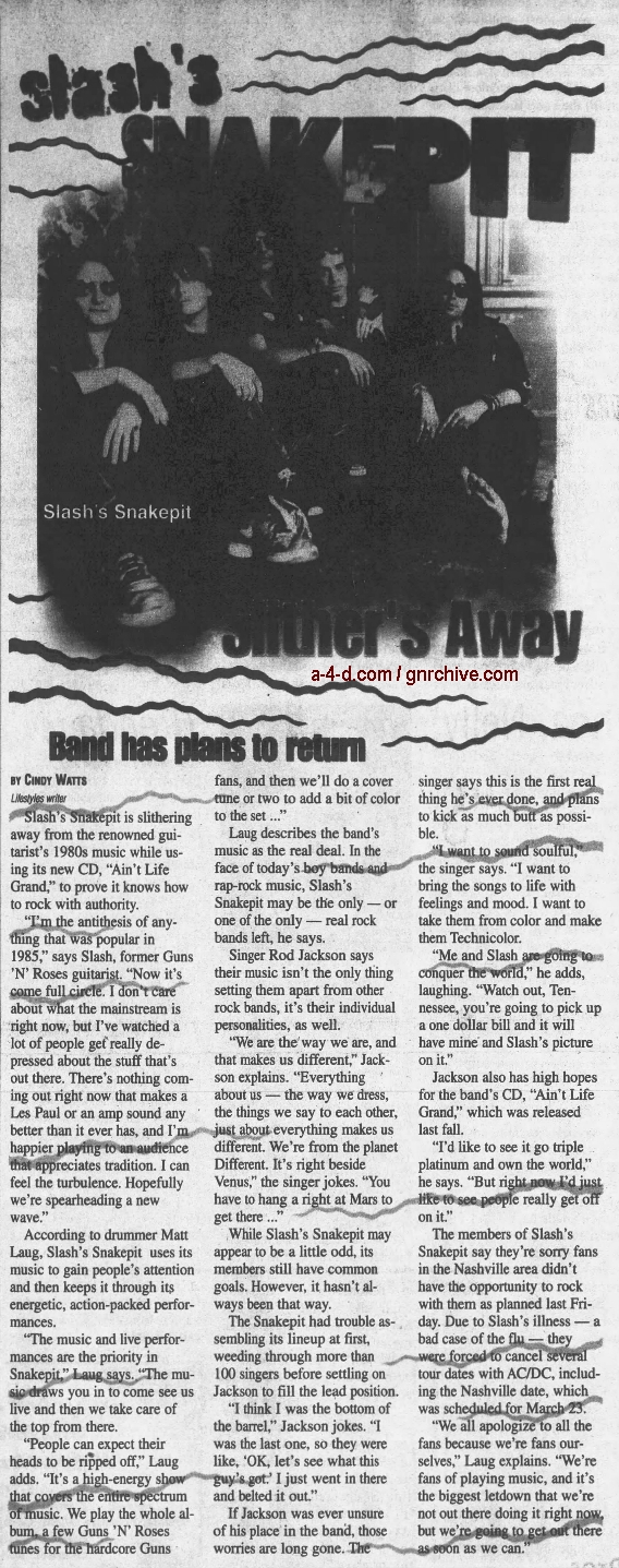 2001.03.29 - The Daily News Journal - Slash's Snakepit Slither's Away 2001_036