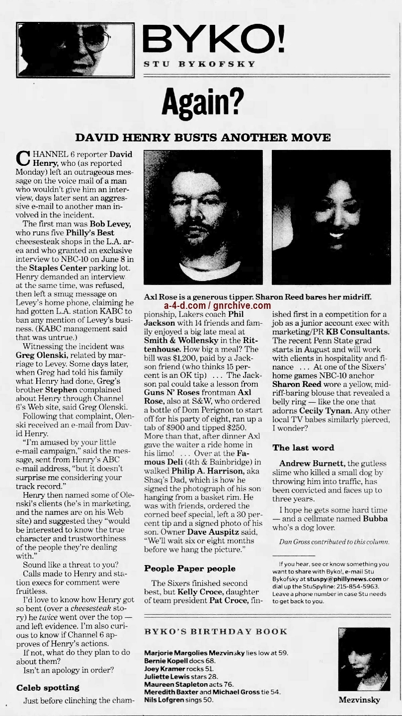 2001.06.21 - Philadelphia Daily News - Celeb Spotting (Axl) 2001_041