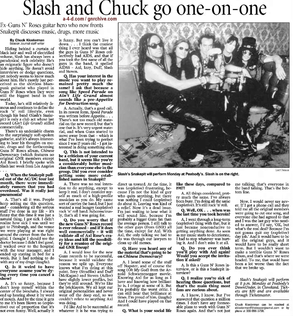 2001.06.21 - The Akron Beacon Journal - Slash And Chuck Go One-On-One 2001_046