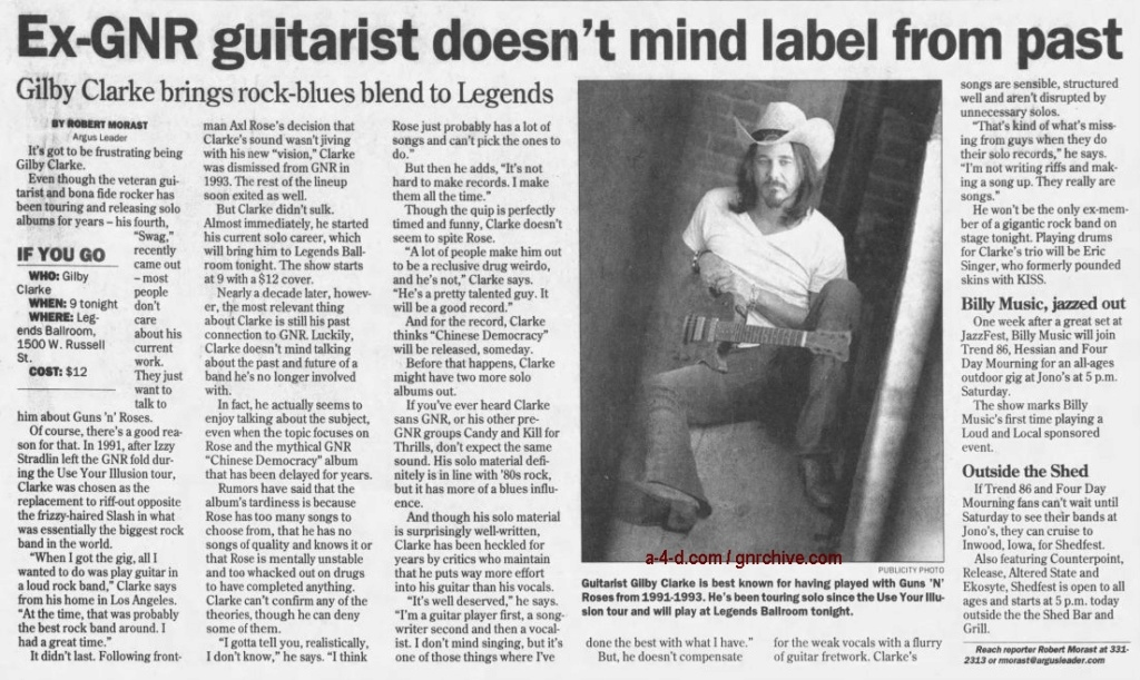 2002.06.26 - Argus Leader - Ex-GNR Guitarist Doesn't Mind Label From Past (Gilby) 2002_031