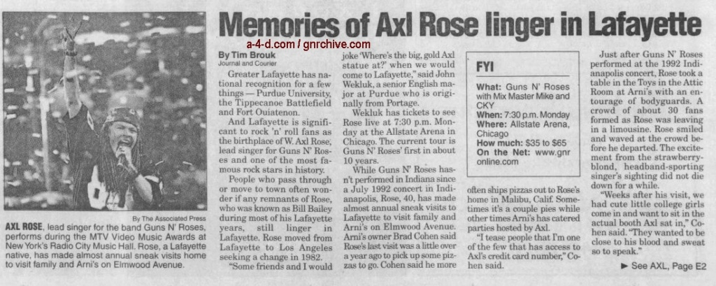 2002.11.17 - Journal and Courier - Memories of Axl Rose linger in Lafayette 2002_100