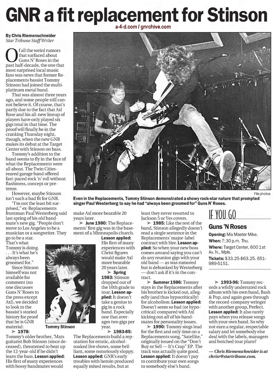 2002.11.10 - Star Tribune - GNR a Fit Replacement for Stinson 2002_138