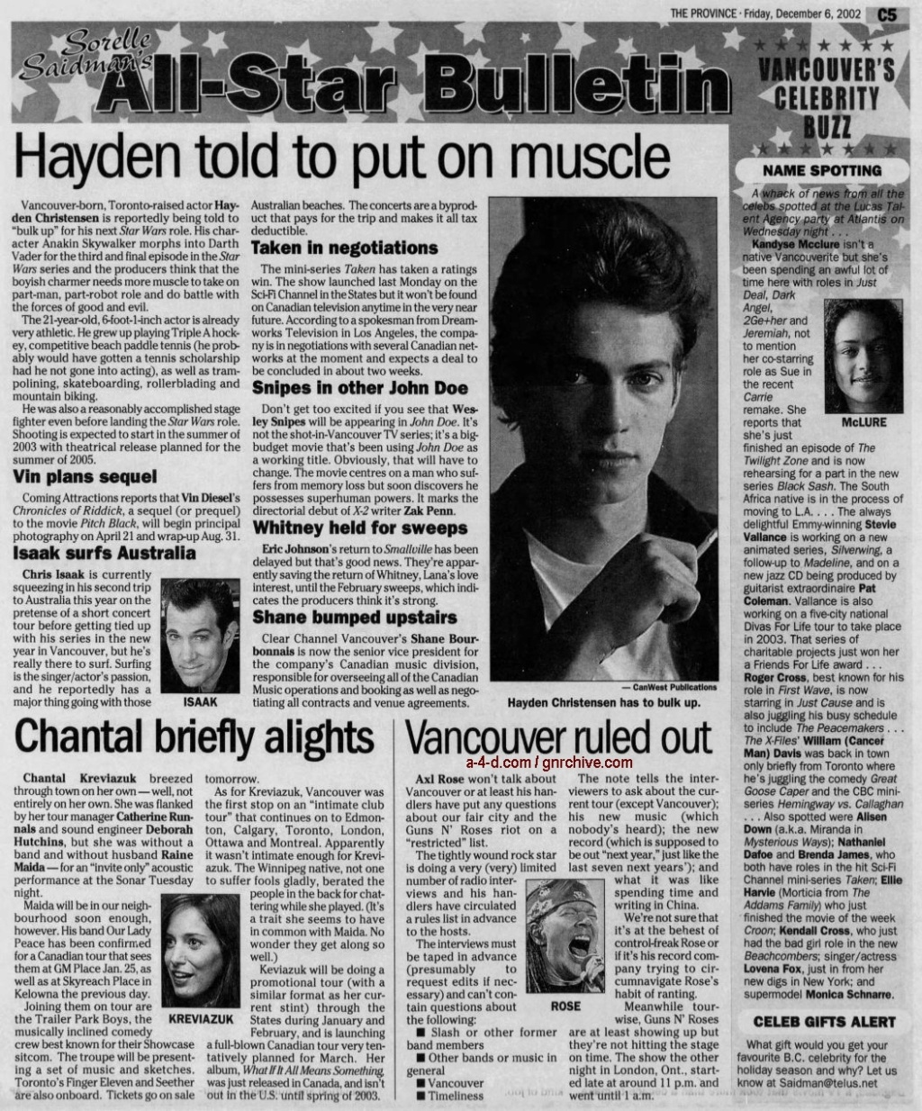 2002.12.06 - The Province - Vancouver Ruled Out 2002_176