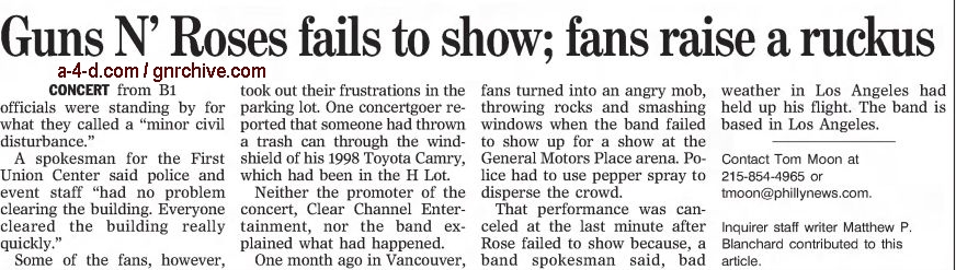 2002.12.07/08 - The Philadelphia Inquirer - Reports on the no-show in Philadelphia 2002_180