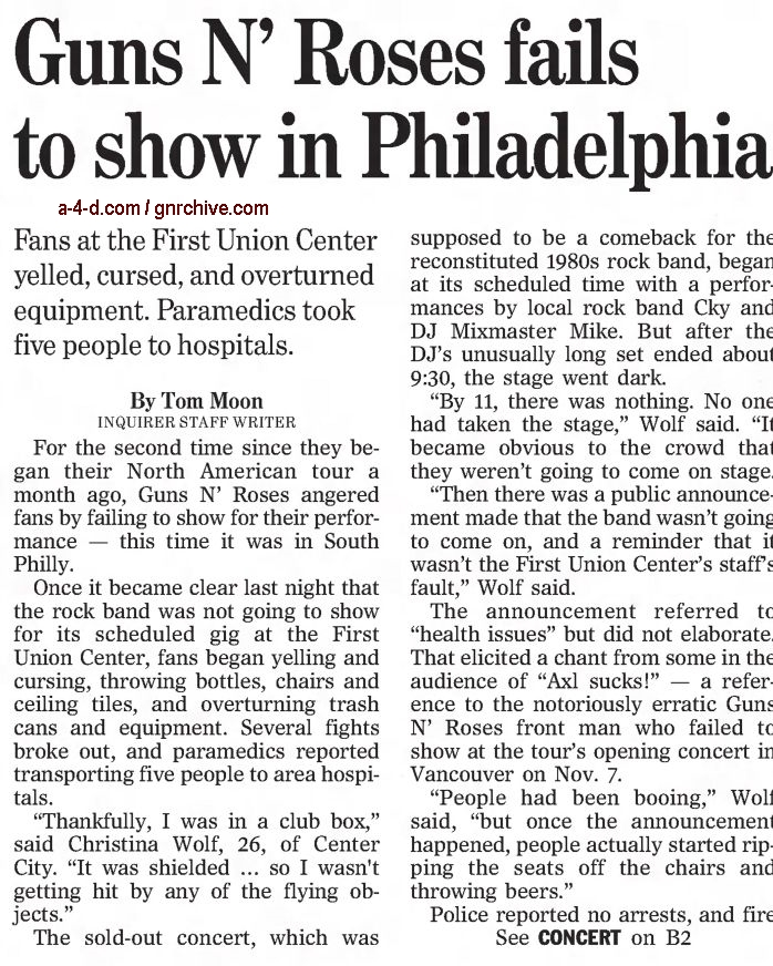 2002.12.07/08 - The Philadelphia Inquirer - Reports on the no-show in Philadelphia 2002_181