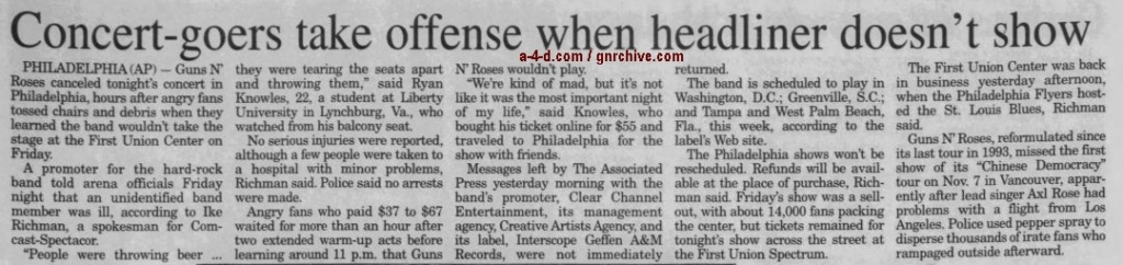 2002.12.08 - Associated Press - Concert-goers Take Offense When Headliner Doesn't Show 2002_182