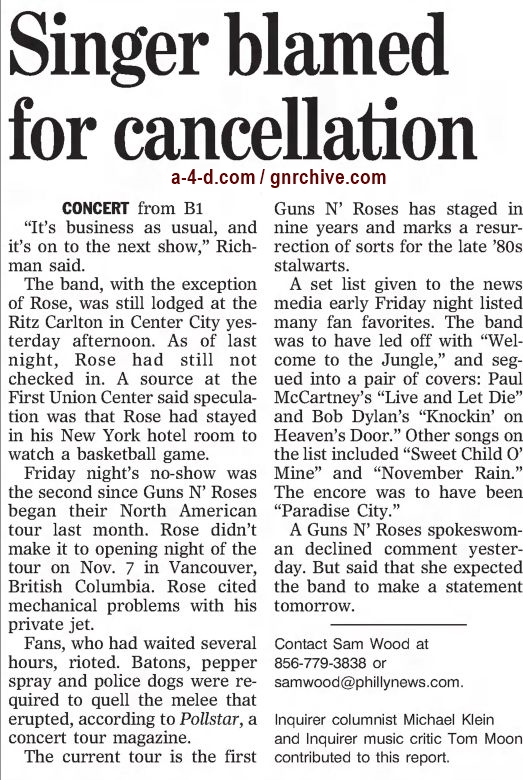 2002.12.07/08 - The Philadelphia Inquirer - Reports on the no-show in Philadelphia 2002_184