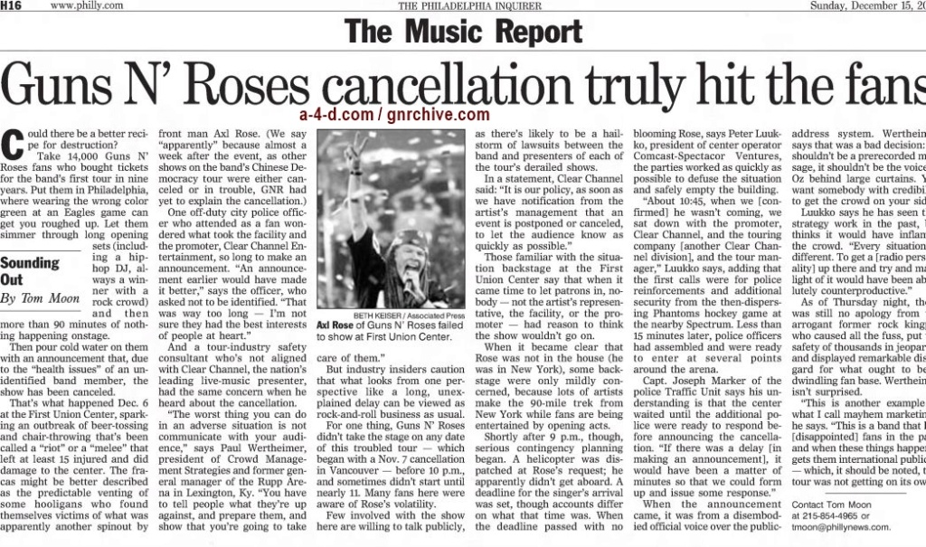 2002.12.15 - The Philadelphia Inquirer - Guns N' Roses Cancellation Truly Hit The Fans 2002_195