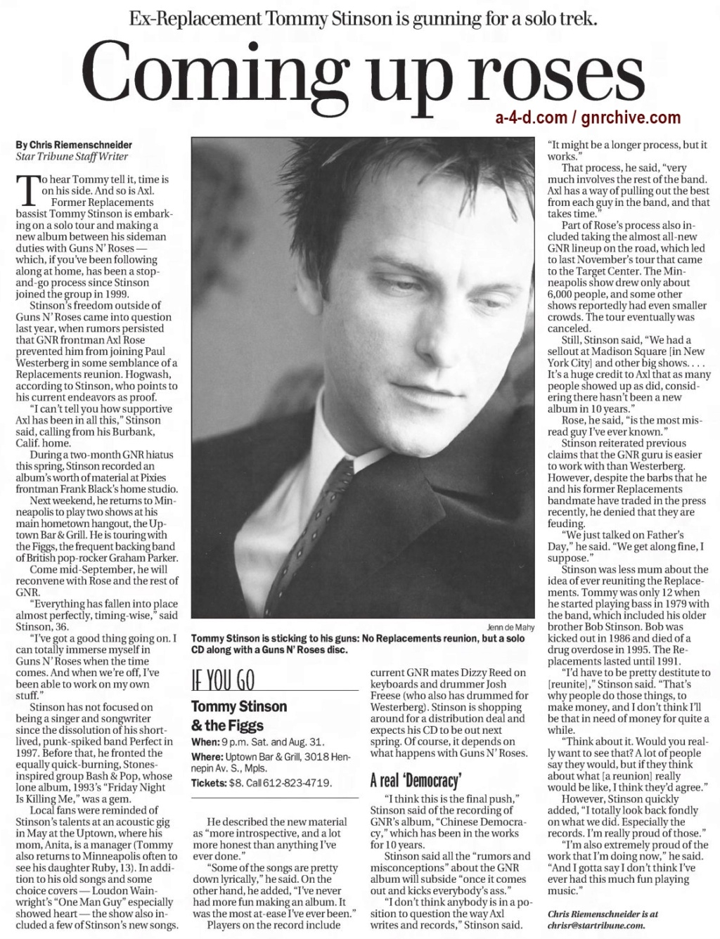2003.08.24 - Star Tribune - Coming Up Roses (Tommy) 2003_028