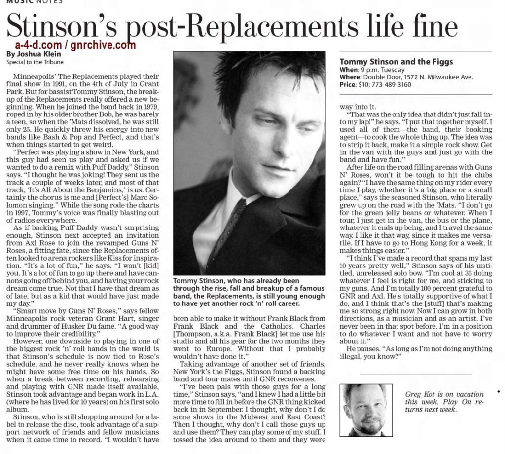 2003.08.29 - Chicago Tribune - Stinson's Post-Replacements Life Fine 2003_034