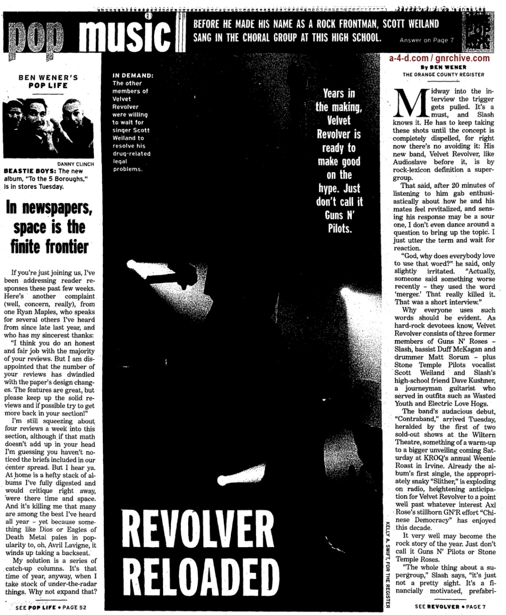 2004.06.11 - Orange County Register - Revolver Reloaded (Slash) 2004_033