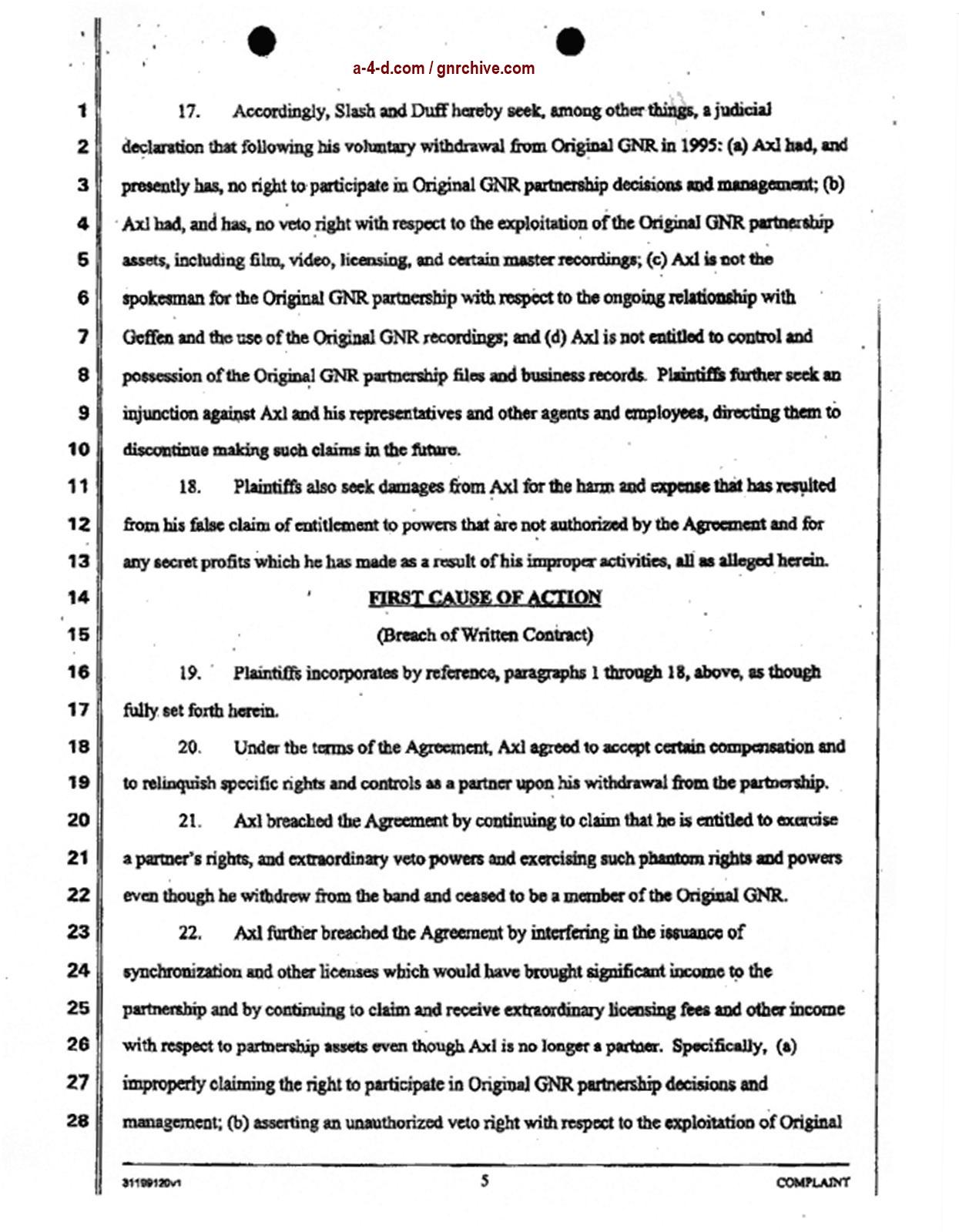 2004.04.29 - Slash & Duff Vs. Axl Lawsuit Document  2004_041