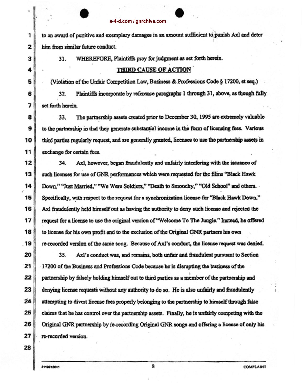 2004.04.29 - Slash & Duff Vs. Axl Lawsuit Document  2004_044