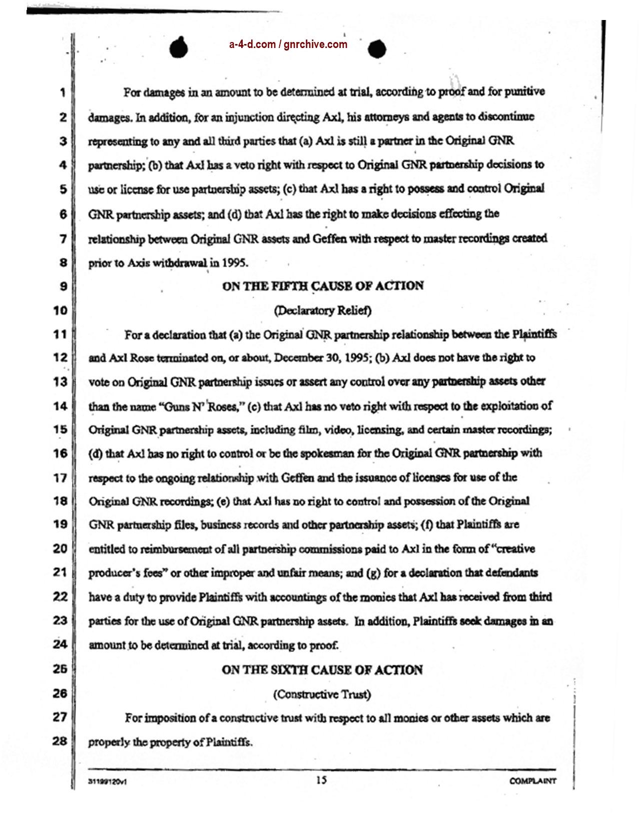 2004.04.29 - Slash & Duff Vs. Axl Lawsuit Document  2004_052