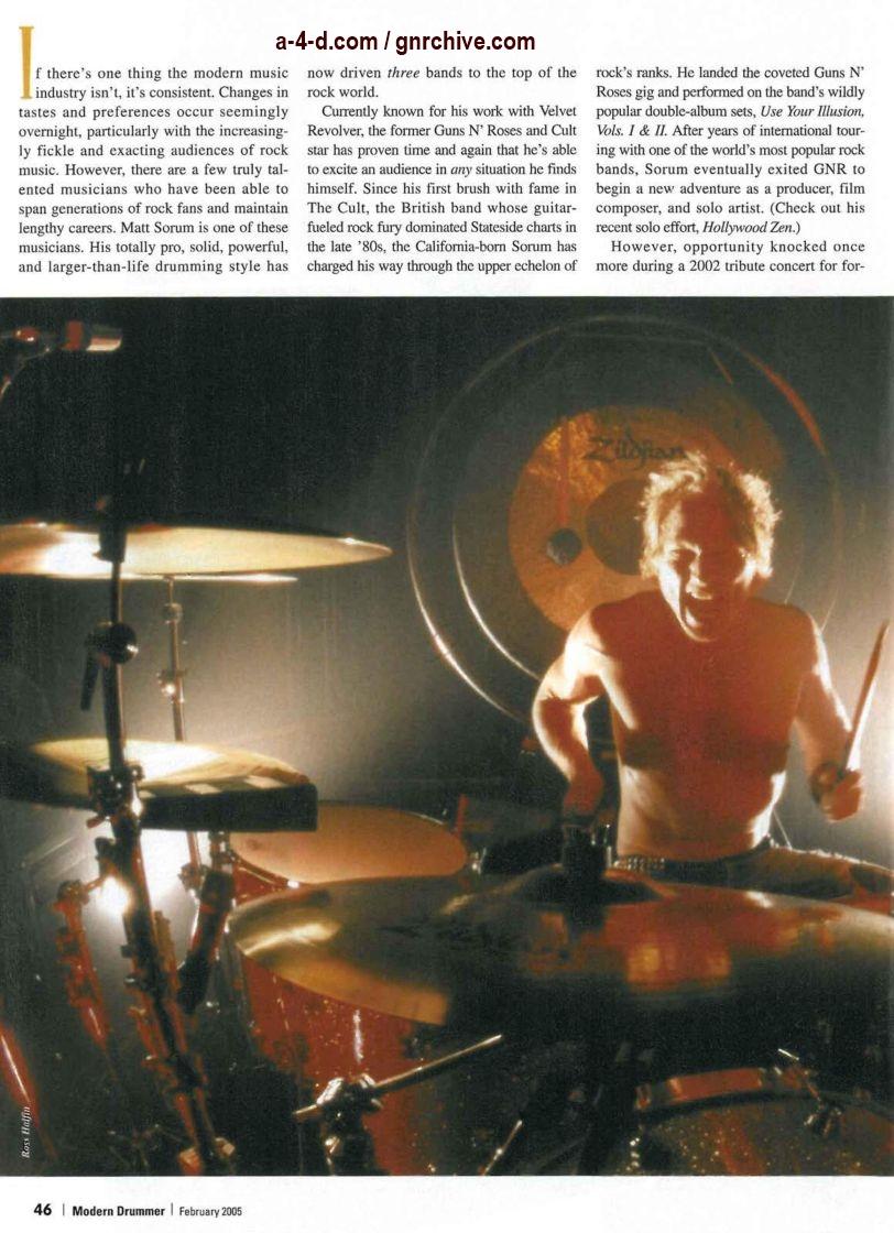 2005.02.DD - Modern Drummer - Matt Sorum: On Top... Again (Matt, Slash) 2005_013