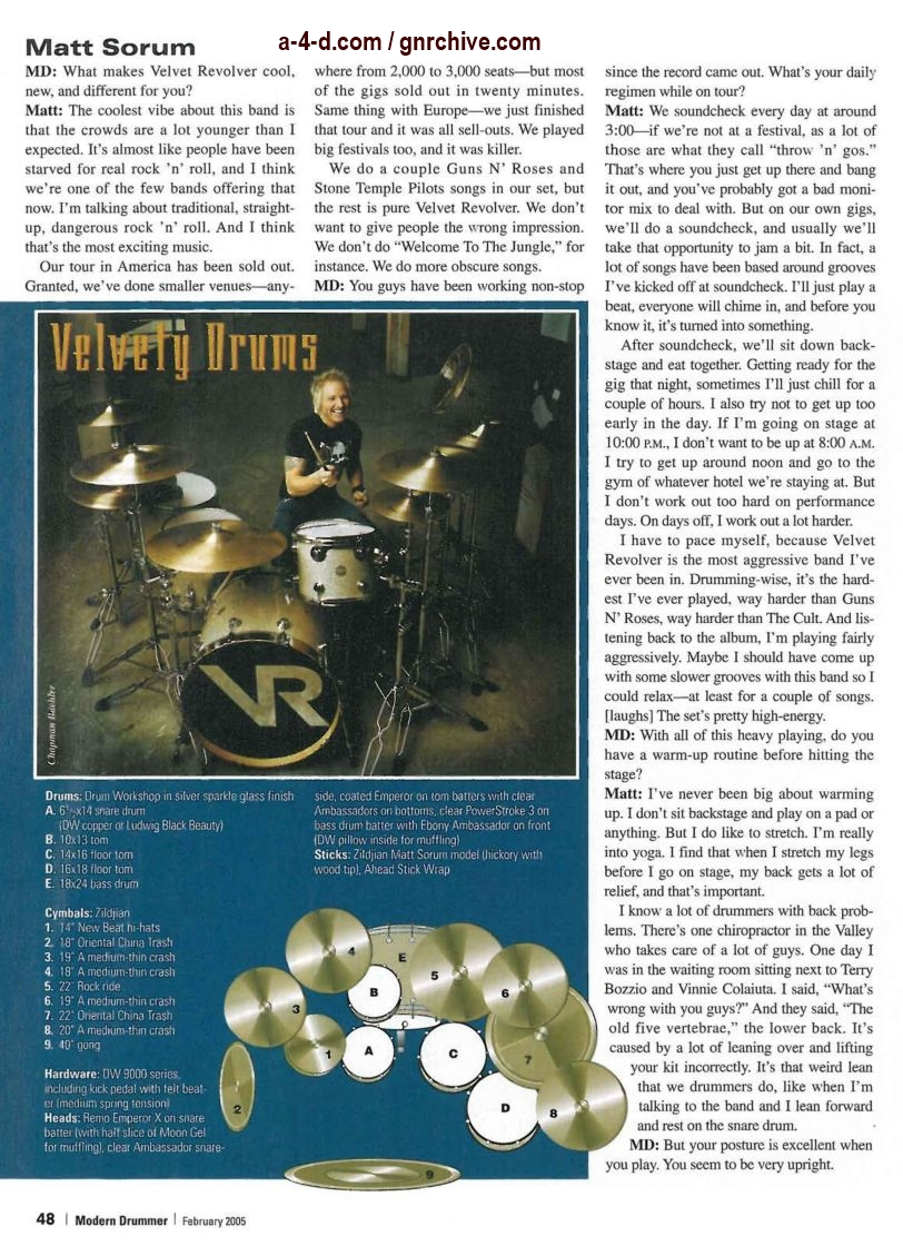 2005.02.DD - Modern Drummer - Matt Sorum: On Top... Again (Matt, Slash) 2005_015