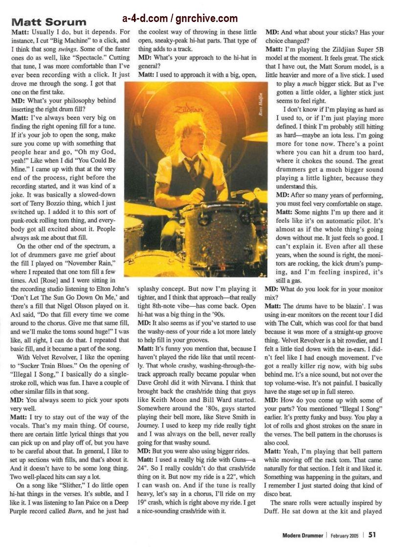 2005.02.DD - Modern Drummer - Matt Sorum: On Top... Again (Matt, Slash) 2005_019