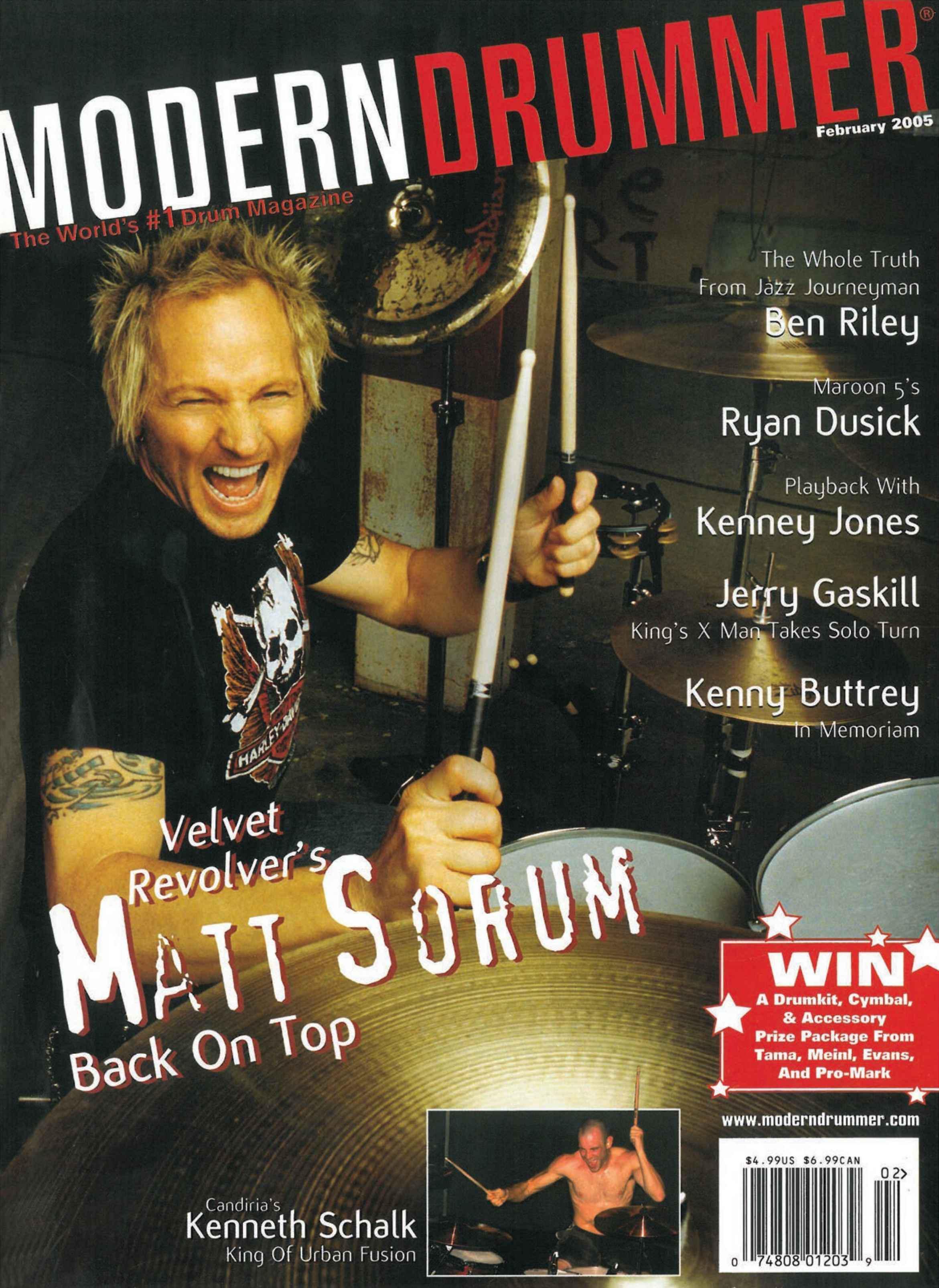 2005.02.DD - Modern Drummer - Matt Sorum: On Top... Again (Matt, Slash) 2005_020
