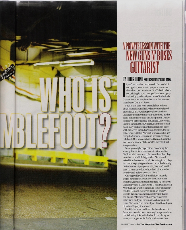 2007.01.DD - Guitar One - Who Is Bumblefoot? 20070112