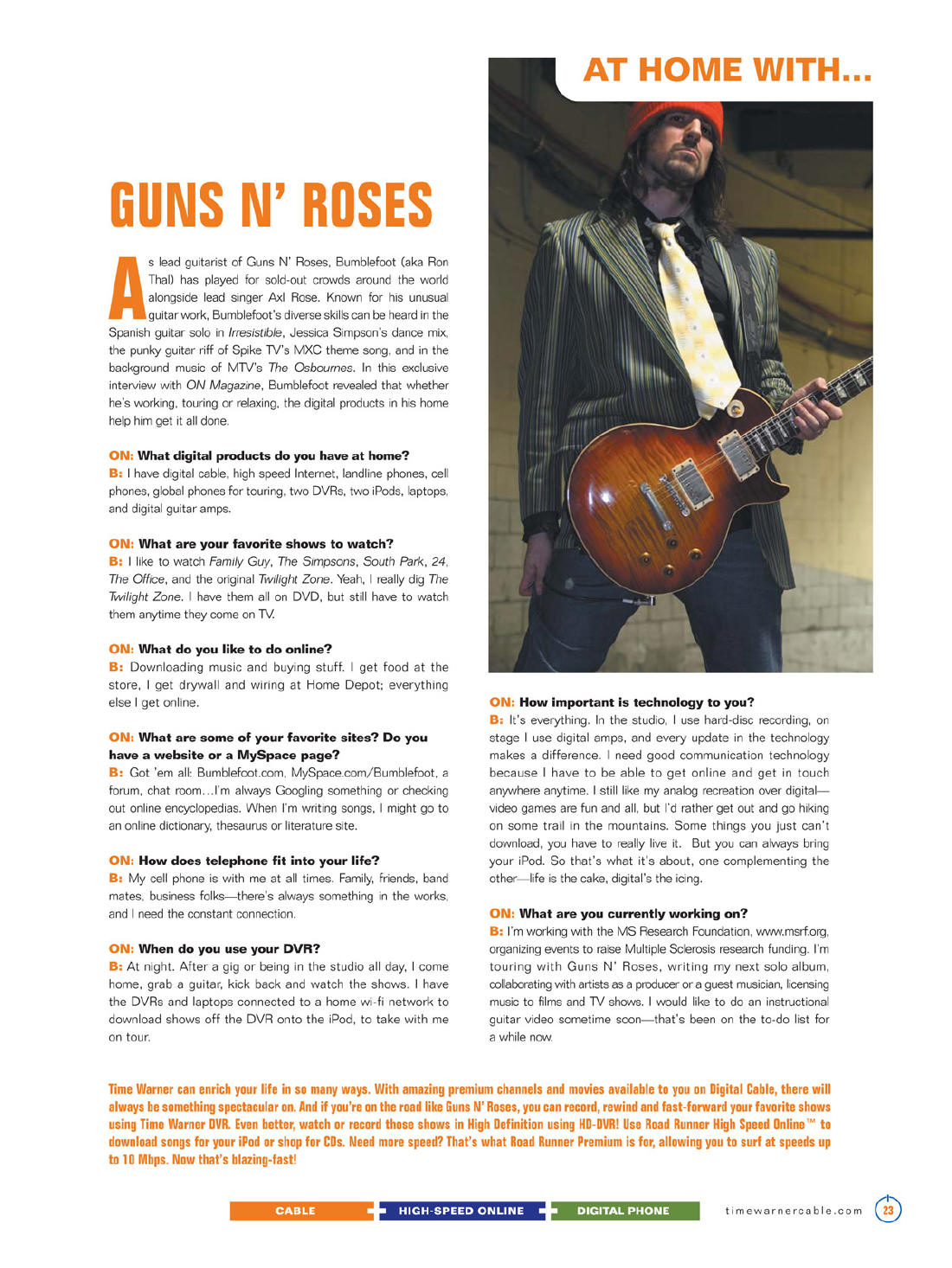 2007.08.DD - On Magazine - At Home With... Guns N' Roses (Bumblefoot) 20070810