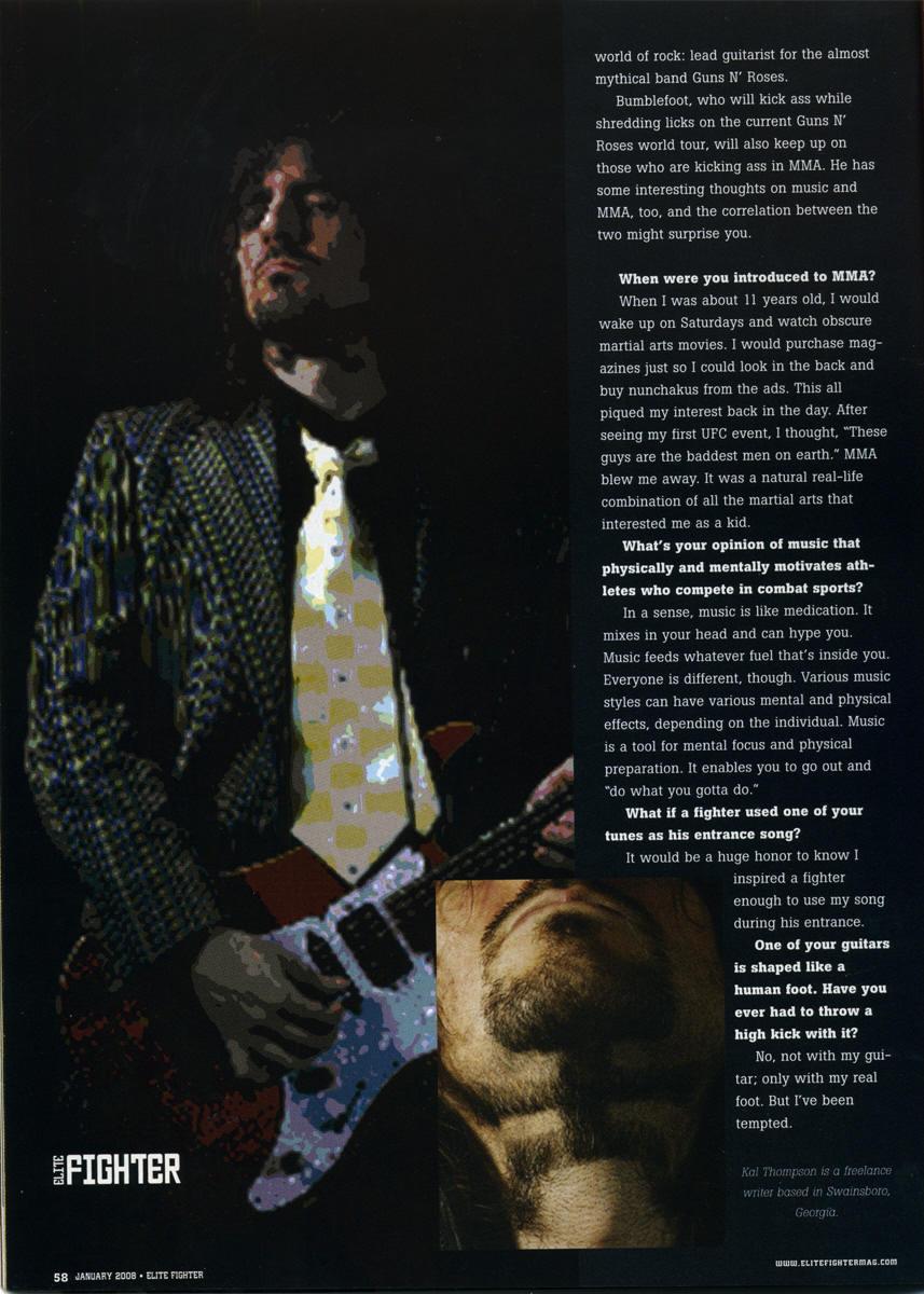 2008.01.DD - Elite Fighter Magazine - Interview with Bumblefoot 20080113