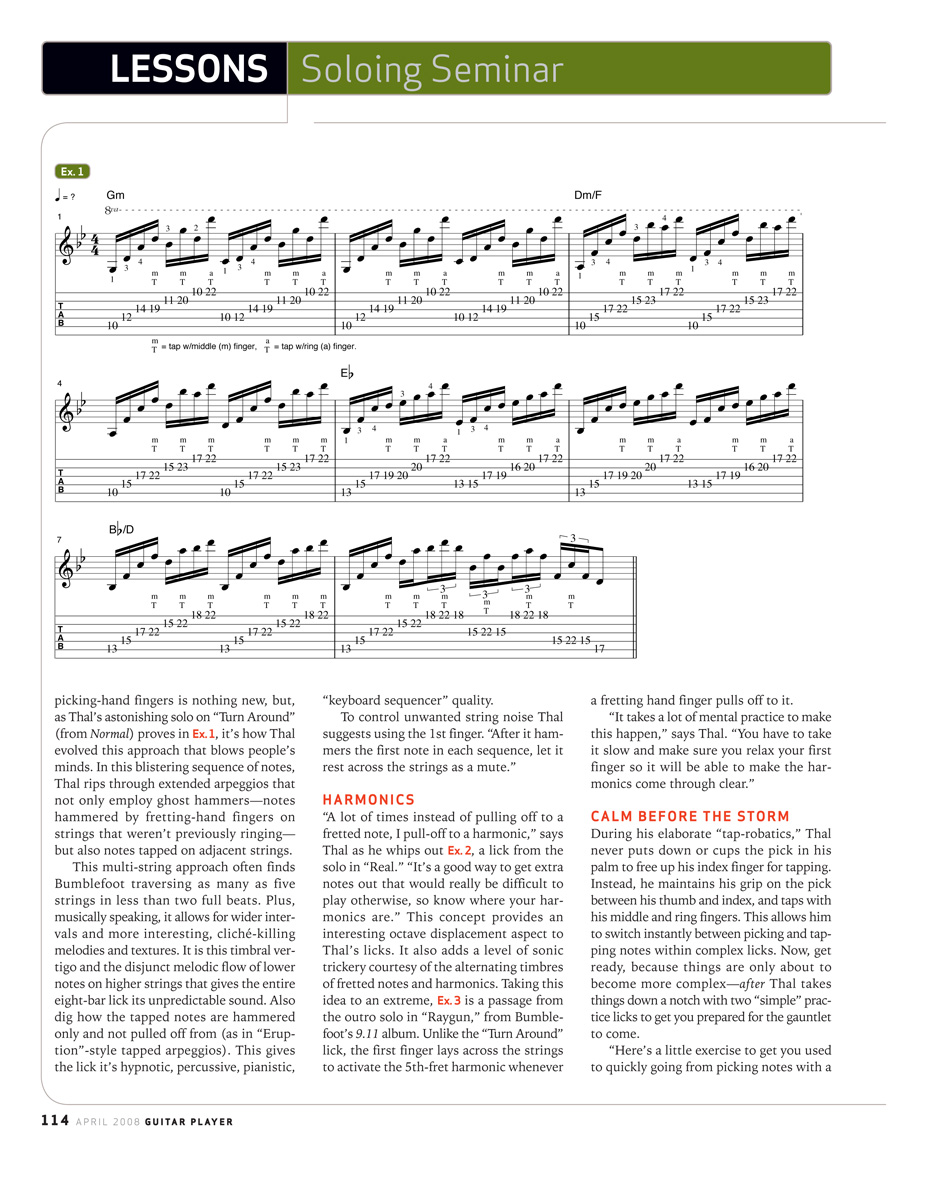 2008.04.DD - Guitar Player Magazine - Tapping Into Genius (Bumblefoot) 20080412