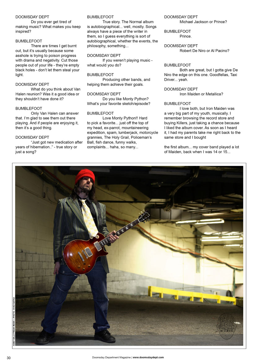 2008.07.DD - Doomsday Department Magazine - Interview with Bumblefoot 20080712