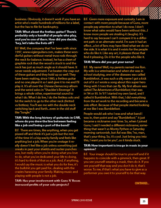 2010.03.DD - Target Audience Magazine - Interview with Bumblefoot 20100411