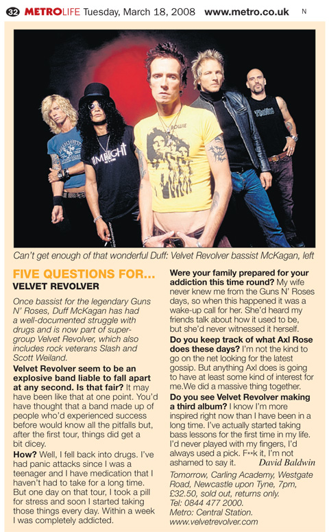 2008.03.18 - Metro - Five Questions For… Velvet Revolver (Duff) 23488910