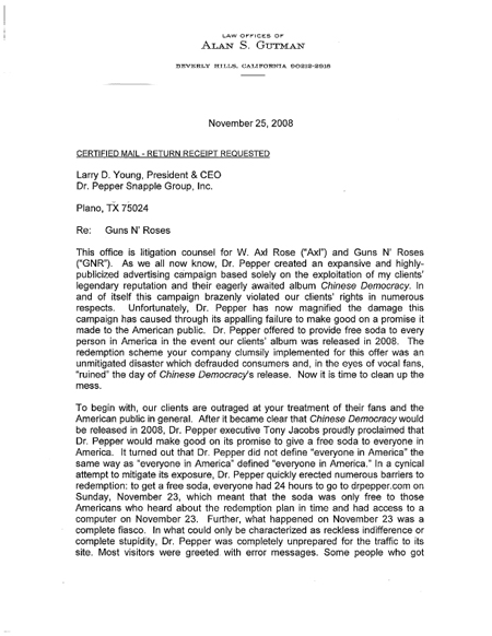 2008.11.26 - Billboard - Guns N' Roses' Lawyer Blasts Dr Pepper (& other related articles) 30623210