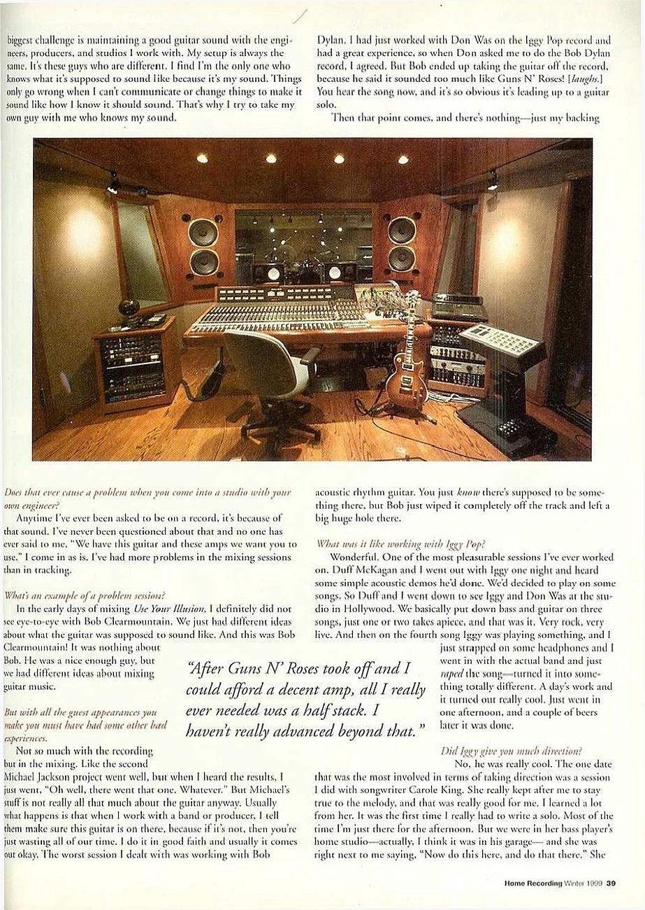 1999.01.DD - Home Recording Magazine - Slash In The Studio _slash13