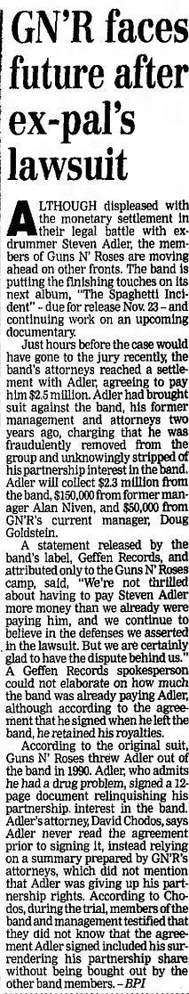 1993.10.21 - The Kokomo Tribune - GN'R faces future after ex-pal's lawsuit Adler_10