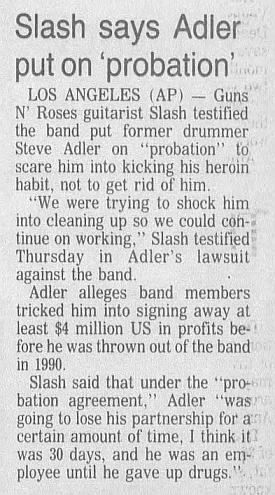 1993.08.21 - Star Phoenix - Slash says Adler put on 'probation' Adlerc10