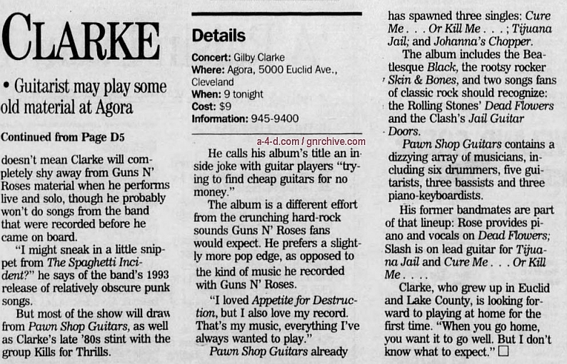 1995.01.27 - The Acron Beacon Journal - Axing Rose Easy To Do (Gilby) Gnr-gi10