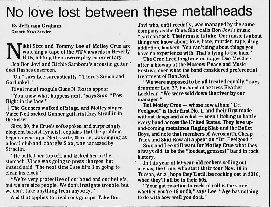 1989.09.08 - Los Angeles Times - Feud Between Rockers Boils Over Backstage at MTV Awards Gnr-mo10