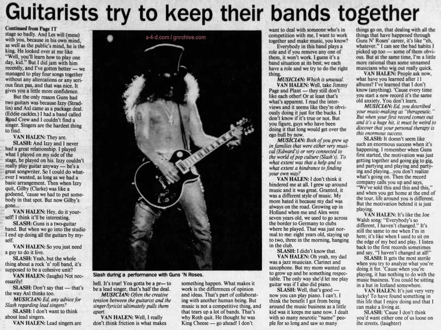 1995.03.DD - Musician Magazine/Quad City Times - Slash 'N' Eddie (Slash) Gnr-sl10