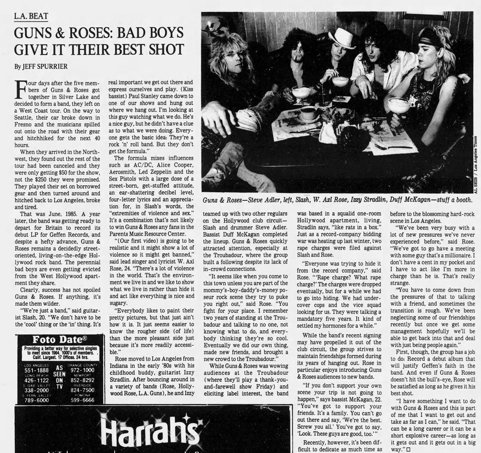 1986.07.06 - Interview with the band in Los Angeles Times Gnr_in10